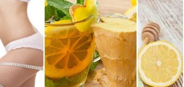 джинджифил с мед, мента лимон отслабване диета рецепта